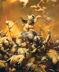 Frank Frazetta influential fantasy artist history look Conan the Barbarian.